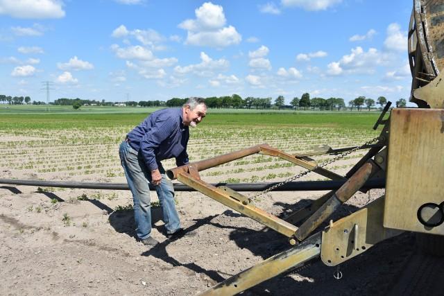 Eligiusz Sławinowski uważa, że dziś w uprawie warzyw niezbędny jest system nawadniania