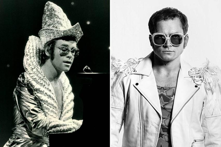 Taron Egerton jako Elton John - Rocketman (2019)...