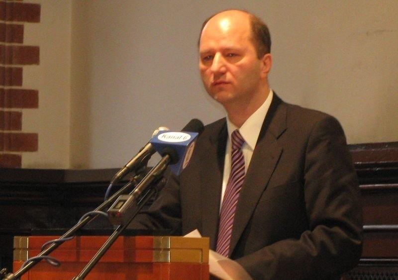 Burmistrz Włodzimierz Klata podczas wczorajszej sesji.