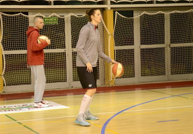 Joanna Czarnecka podczas jednego z pierwszych treningów w Ślęzie