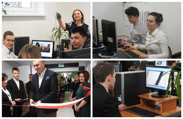 Uroczyste otwarcie sali komputerowej w IV LO w Białymstoku