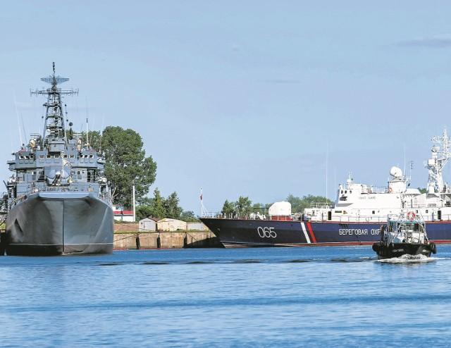 Rosyjskie okręty w Bałtyjsku. Żeglugę przez Cieśninę Pilawską reguluje wewnętrzne prawo Federacji Rosyjskiej