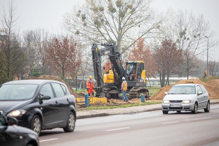 Rozpoczęły się prace przy przebudowie Alei Tysiąclecia