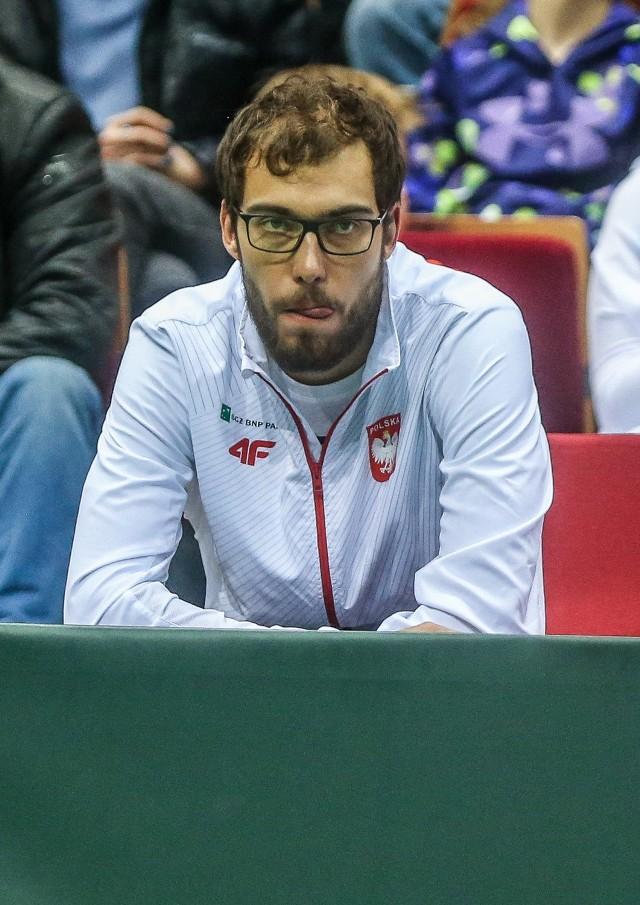 Jerzy Janowicz mecz z Argentyną w Ergo Arenie oglądał z perspektywy trybun