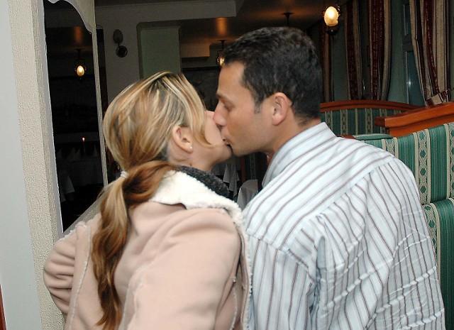 Adriano do Polski przyjechał z żoną.