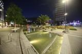 Katowice by night. Miasto w lipcu wieczorem - ładne czy słabe? Oświetlone rynek, palmy, Dworcowa, Sztauwajery