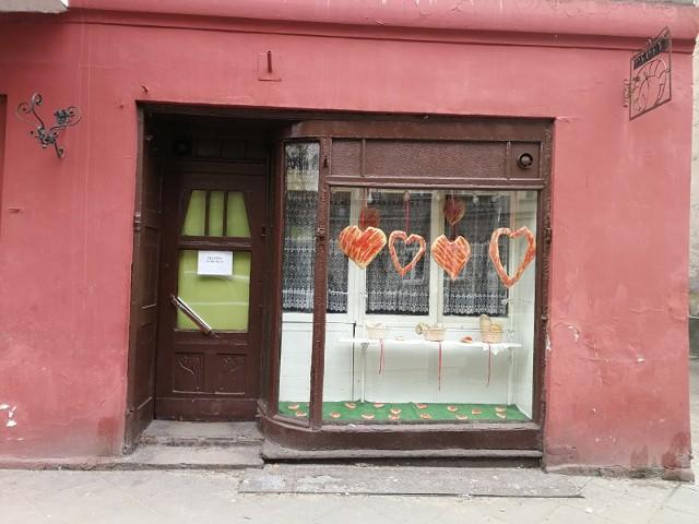 Piekarnia Psutych z informacją o zamknięciu