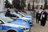 Cztery nowe radiowozy dla Komendy Powiatowej Policji w Łowiczu [ZDJĘCIA]