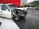 Wypadek na autostradzie pod Wrocławiem. Węzeł drogowy zablokowany