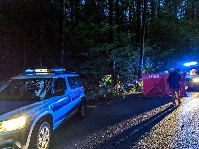 Tragiczny wypadek na drodze Niemczyn - Chmielnik (gm. Czarna Białostocka)