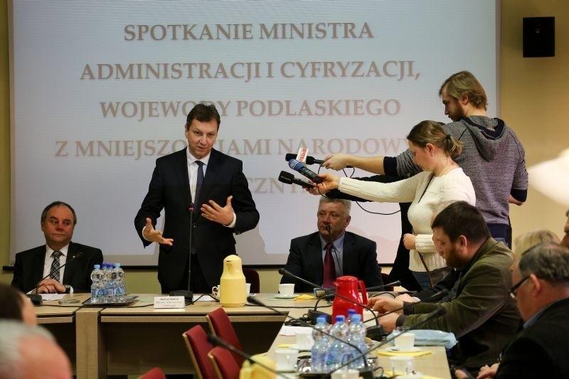 Minister Administracji i Cyfryzacji Andrzej Halicki w Białymstoku i Bielsku Podlaskim (zdjęcia)