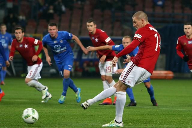 Zdenek Ondrasek w meczu Wisły Kraków z Bruk Bet Termaliką Nieciecza.