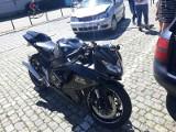 Wypadek motocyklisty i samochodu przy Hali Ludowej (ZDJĘCIA)