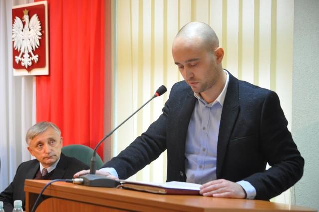 Jakub Hardie-Douglas na sesji Rady Powiatu