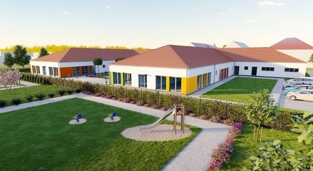 Na terenie nowej szkoły powstaną m.in. plac zabaw i specjalna strefa ogrodowa
