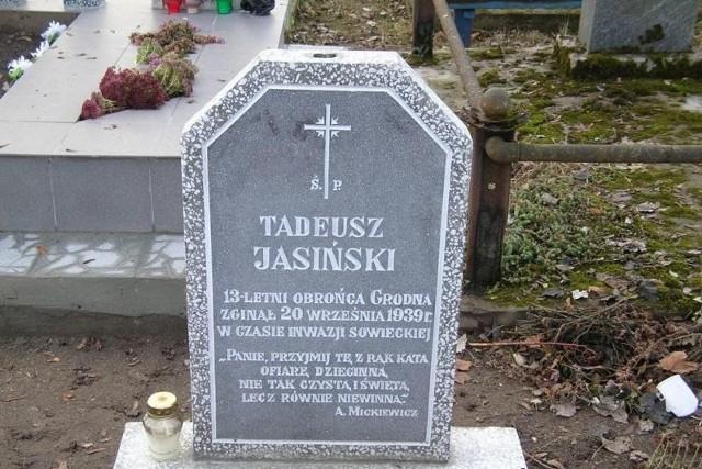 Tadeusz Jasiński jest pochowany w Grodnie