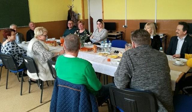 Przedsiębiorcy i pracodawcy gościli na spotkaniu w Zespole Szkół Zawodowych w Skalbmierzu.