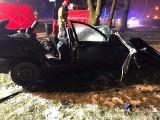 Bytom. Tragiczny wypadek na DK94. Ford wjechał w mecedesa i volvo. Jedna osoba zginęła