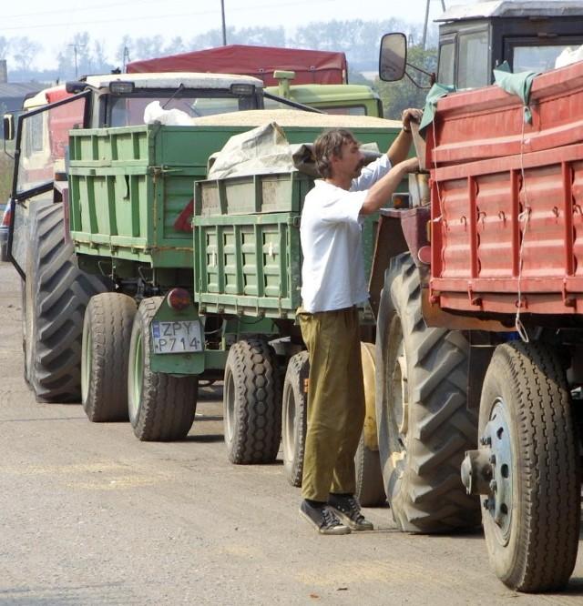 W ubiegłym roku rolnicy czekali na skup w długich kolejkach.