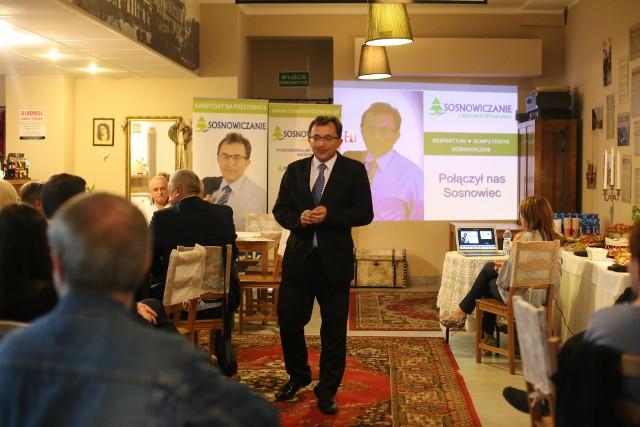 Wybory samorządowe 2018: konwencja wyborcza Stowarzyszenia Sosnowiczanie w Stacji Sosnowiec