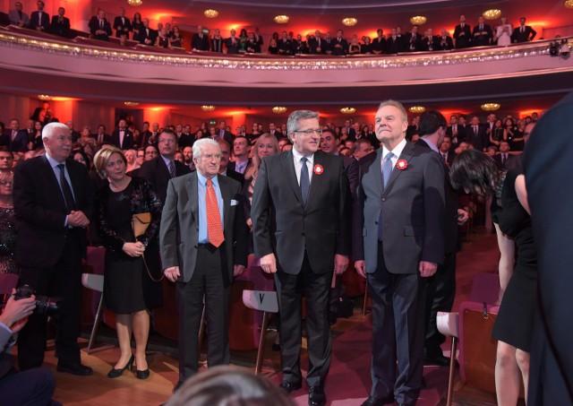 Bronisław Komorowski oraz Andrzej Malinowski, prezydent organizacji Pracodawcy Rzeczypospolitej Polskiej