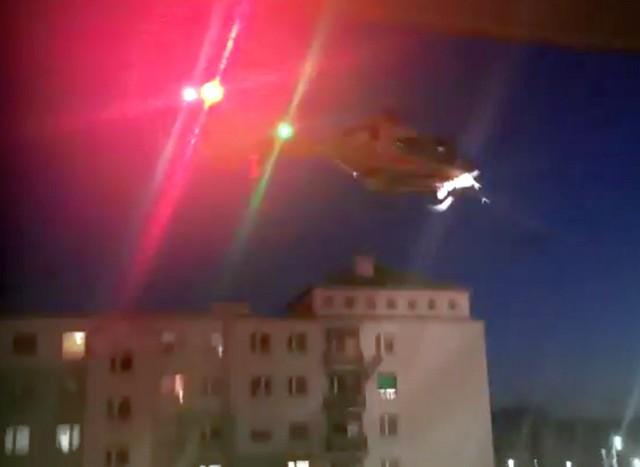 Śmigłowiec Lotniczego Pogotowia Ratunkowego próbował wylądować na osiedlu Gaj we Wrocławiu. Bezskutecznie