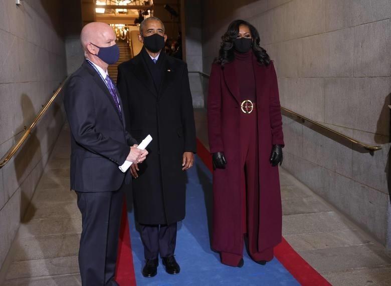 """""""Michelle Obama z mężem"""", byłym prezydentem Barrackiem..."""