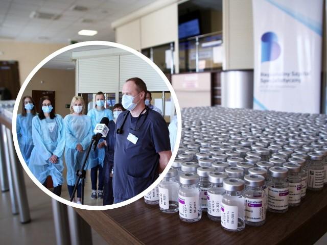 Koordynator ds. szczepień w szpitalu w Grudziądzu, dr Maciej Bieliński dba o to by proces szczepień na COVID-19 przebiegał sprawnie. Rekord dzienny padł w piątek, 23 kwietnia - wówczas zaszczepiono 1060 osób!
