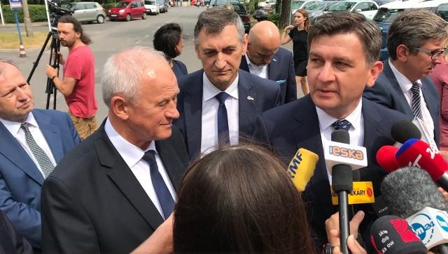 Tragedia w kopalni Staszic: minister Krzysztof Tchórzewski odwiedza rannych górników