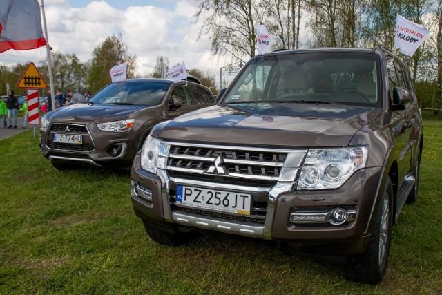 Mitsubishi Polody wystawiło swoje auta podczas otwarcia sezonu lotniczego w Ligowcu pod Poznaniem