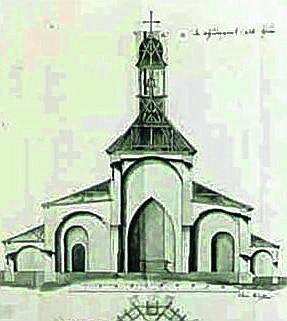 Projekt kościoła w Cieszynie sporządzony w 1789 r.