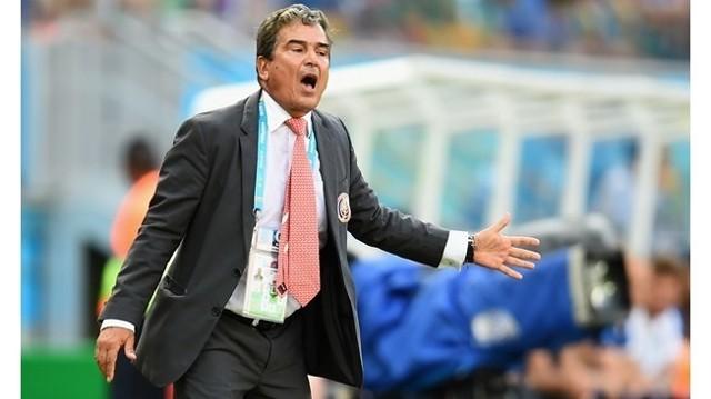 Trener zespołu Kostaryki Jorge Luis Pinto.