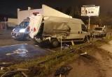 Pijany kierowca rozbił audi na stacji paliw przy al. Politechniki. Było od włos od katastrofy