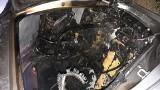 Pożar samochodu na S8 na wysokości Lututowa. Trzy zastępy straży walczyły z ogniem ZDJĘCIA