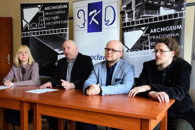 Organizatorzy konferencji (od lewej): Magdalena Basińska, Maciej Basiński, Przemysław Gawęda i Marcin Sajdak
