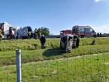 Karambol na autostradzie A4. Zderzenie pięciu samochodów na wysokości Dąbrówki Górnej. Lądował śmigłowiec LPR