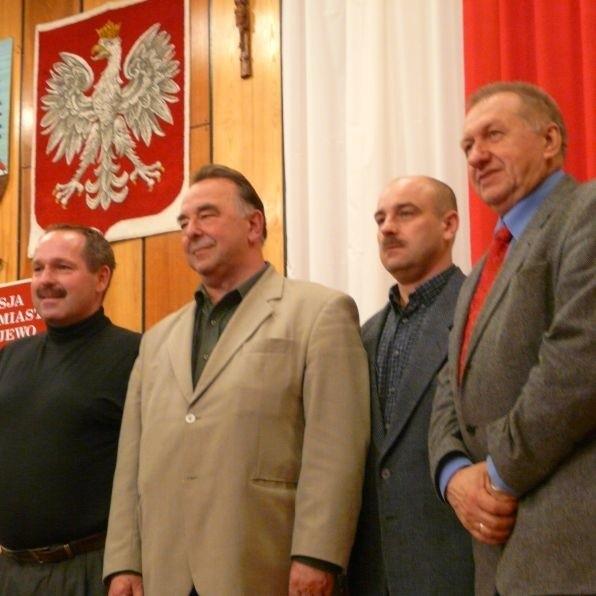 Nowy zarząd liczy czterech członków. Od lewej: Radosław Zolnik, Jan Kowalski, Zbigniew Łaguna, Jerzy Kruszyński