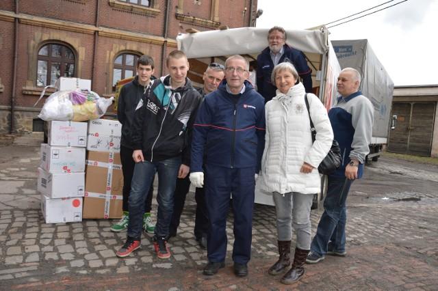 Bernhard Serwuschok (na ciężarówce) odwiedza nasz region kilka razy w roku.