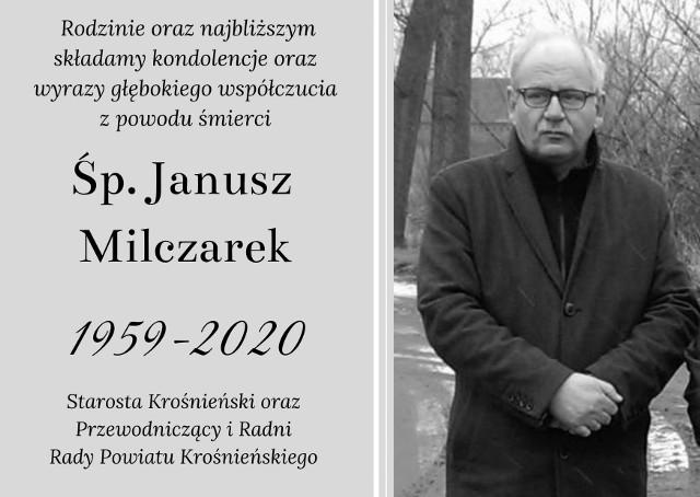 9 grudnia zmarł Janusz Milczarek, wieloletni dyrektor Zarządu Dróg Powiatowych.