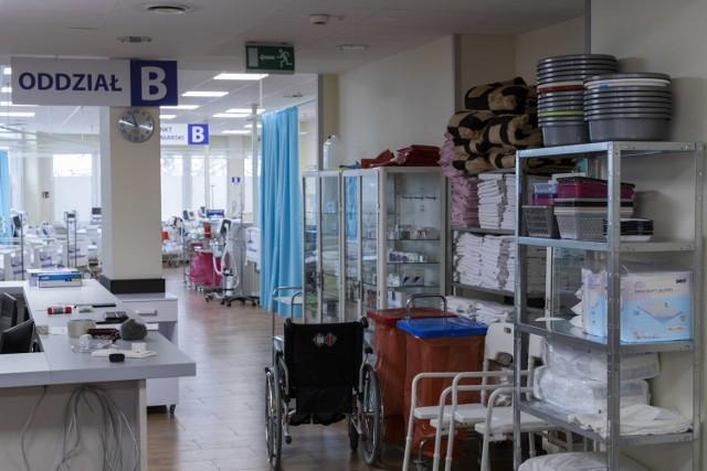 Szpital tymczasowy w Ciechocinku został uruchomiony na początku kwietnia 2021 roku.