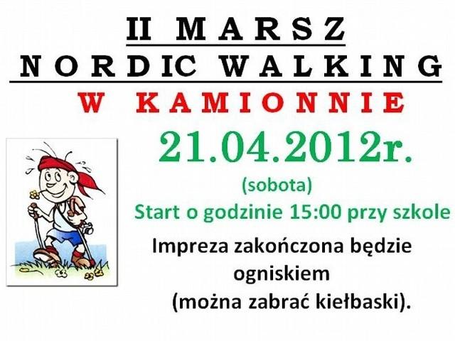 Uczestnicy sobotniego marszu spotkają się  o 15.00 na placu przy zespole szkolno-przedszkolnym w Kamionnie. Imprezę rekreacyjna zakończy ognisko.