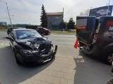 Wypadek trzech samochodów na Swojczyckiej. Duże korki