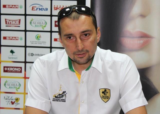 Rafał Dobrucki drugi sezon jest trenerem Stelmetu Falubazu Zielona Góra. Wcześniej był zawodnikiem klubu z Winnego Grodu.