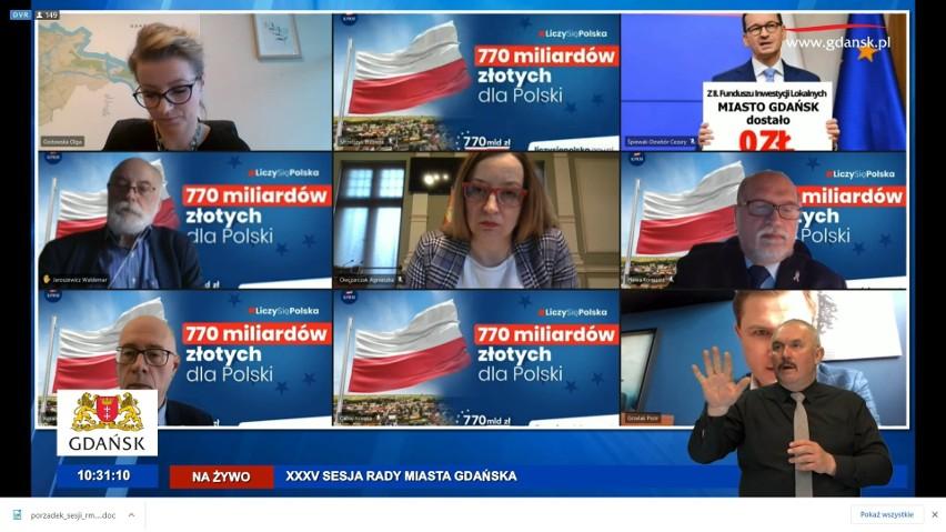 Zdalna sesja Rady Miasta Gdańska w czwartek, 29.04.2021 r.