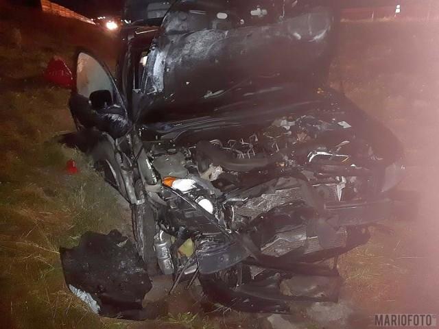 Zderzenie trzech samochodów na autostradzie A4, jedna osoba poszkodowana.