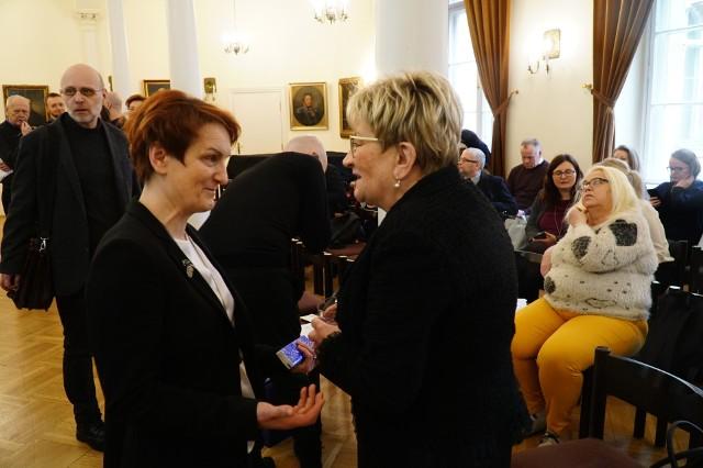 Wśród gości konferencji była przewodnicząca Gminy Żydowskiej w Poznaniu  Alicja Kobua.