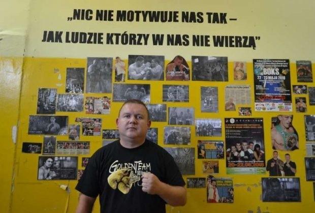 Na zdjęciu Jerzy Galara jeszcze w dawnej siedzibie Golden Teamu