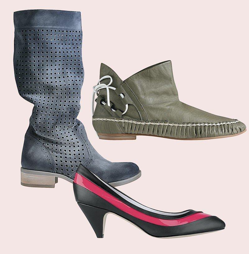 30715110 W kolekcjach wiosennych nie ma nacisku na jeden fason - są buty na  sportowych podeszwach,