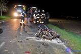 Tragiczny wypadek pod Włocławkiem. Nie żyje 34-letni motocyklista [zdjęcia]