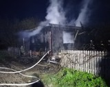 Bondary w gminie Michałowo. Pożar domku drewnianego. Budynek spłonął doszczętnie [ZDJĘCIA]